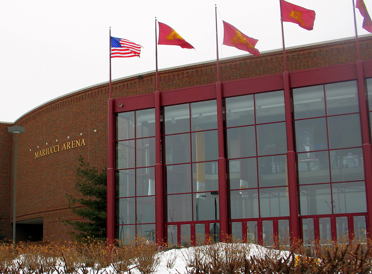 The Gopher Hockey team have played in this new Mariucci Arena since the 1993 season. The moved from across the street where they played in the old Mariucci Arena that was attached to Williams Arena, otherwise known as