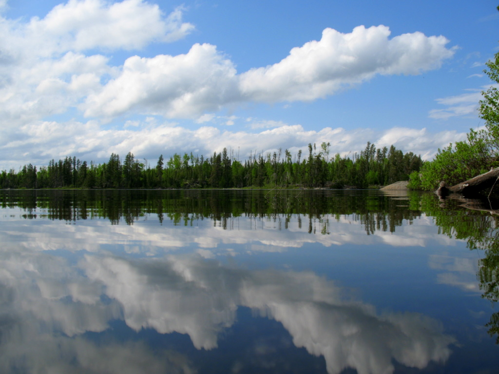 a BWCAW lake reflection shot. The lake is called Ima Lake.