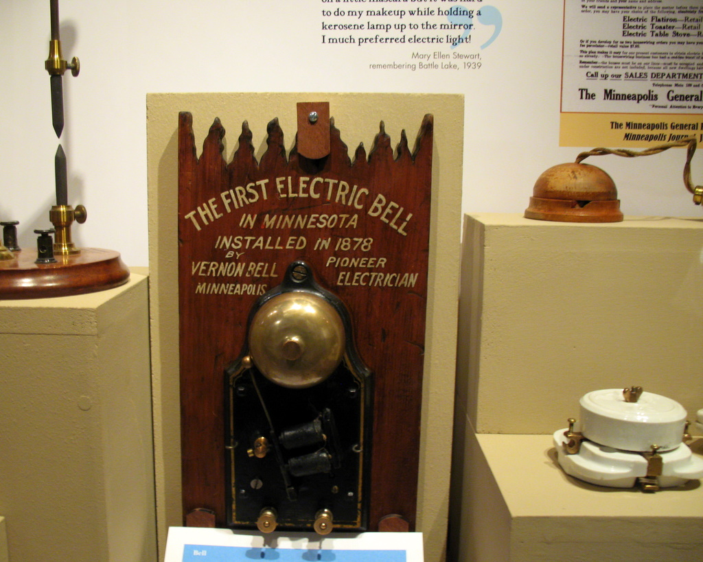 The first electric bell installed 1878 in Minnesota.
