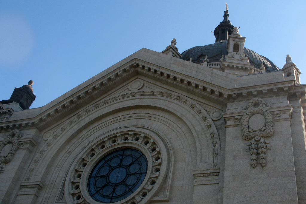 North side of the Cathedral in St Paul.