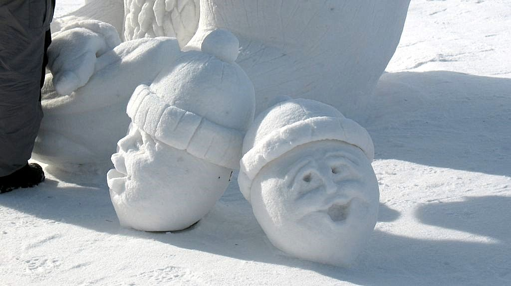 funny snow sculpture
