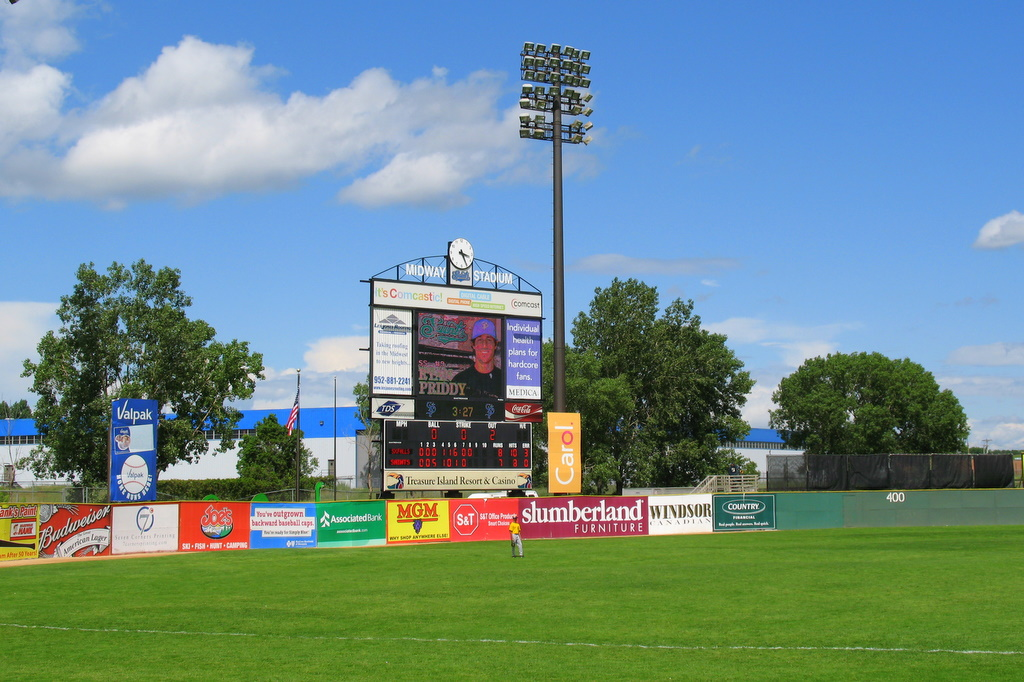 midway stadium in st paul, home of the saint paul saints