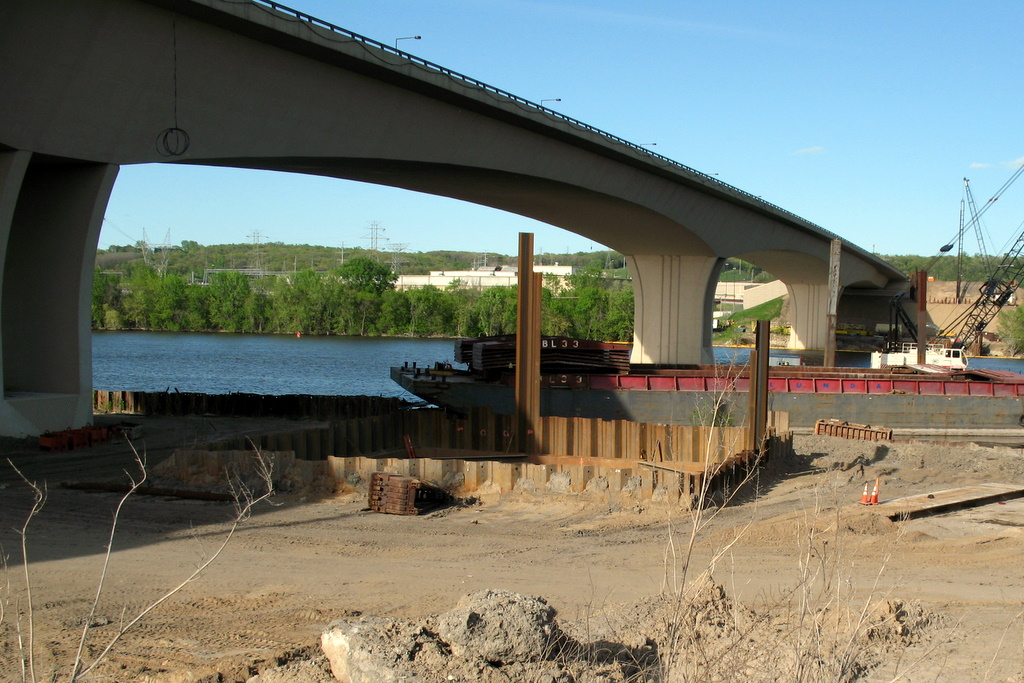 progress of the wakota bride crossing the mississippi river