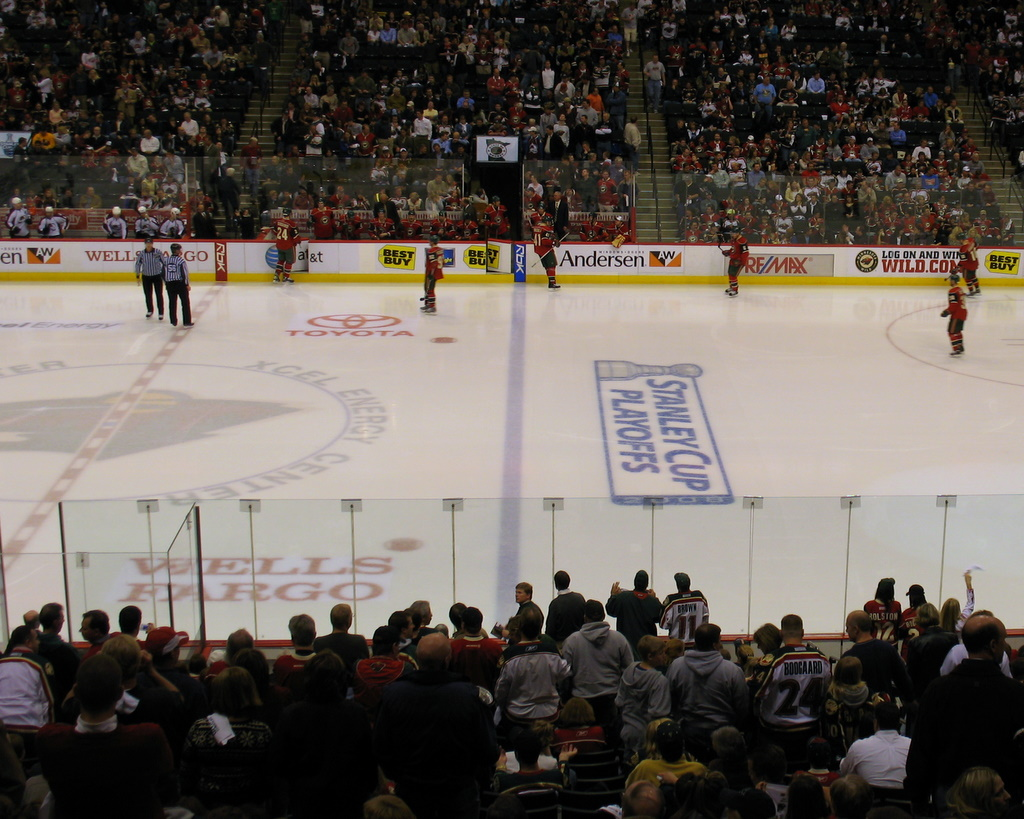 Game One, NHL Playoffs, Minnesota Wild versus Colorado Avalanche