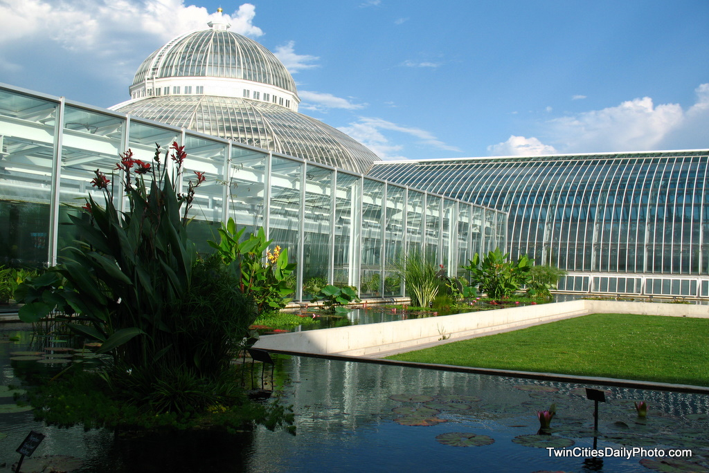 The photo is an outside view of the Como Conservatory in St Paul. The tax payer/local business funded Conservatory is a crowd favorite with hundreds of plants from around the world growing in an ideal area.