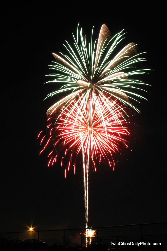 Captured during the July 4 fireworks show in Cottage Grove at Kingston Park.