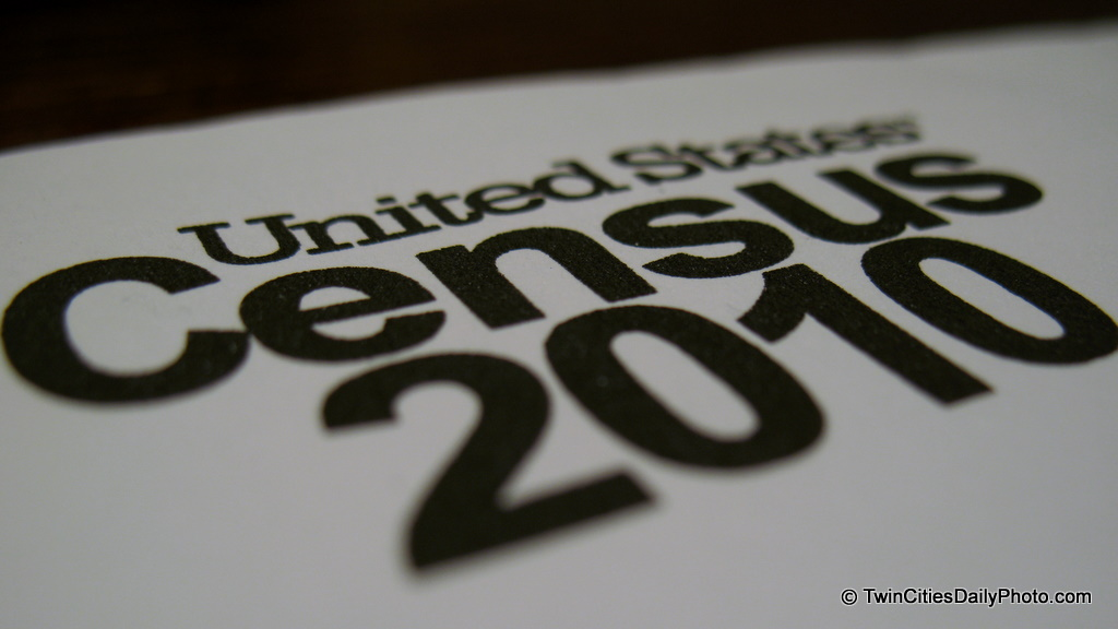 Macro shot of the US Census 2010 letterhead.
