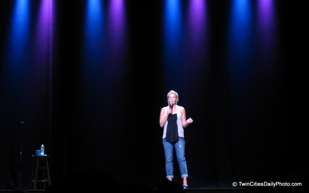 Comic Chelsea Handler made a stop in the Twin Cities at the University Of Minnesota campus. She appeared at the Northrup Auditorium on Saturday, April 3, 2010. It was classic Chelsea Handler comedy, very witty, impromptu with the crowd, well thought out ideas, and a bit adult/crude for some ears, but overall a very fun night.
