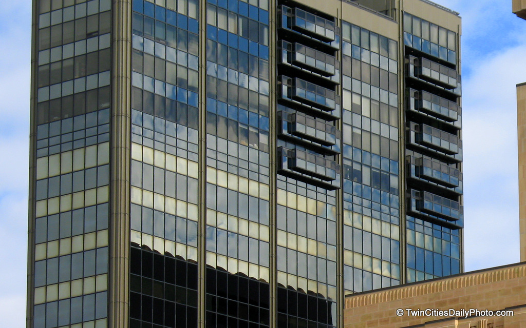 The Landmark Towers building in downtown St Paul on the corner of 4th Street and St Peter. I've featured this build a couple different times on the blog as the looks of the building are very unique from different angles.