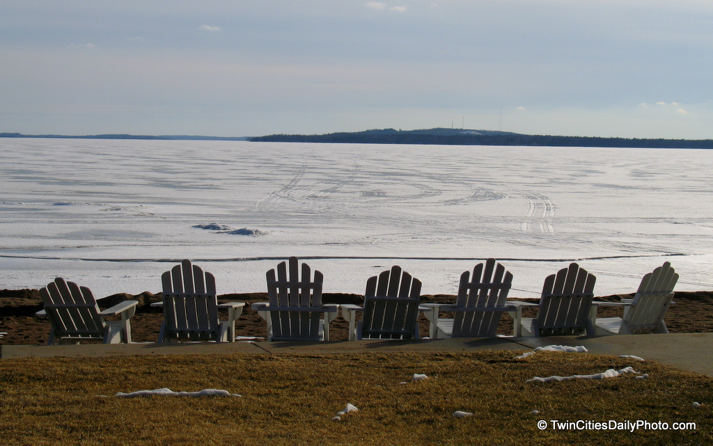 A good sign summer is almost here, I'm already starting to see the beach chairs out on our beaches, even though our lakes are still frozen. They put them out so you can watch the ice melt away on warm spring days.