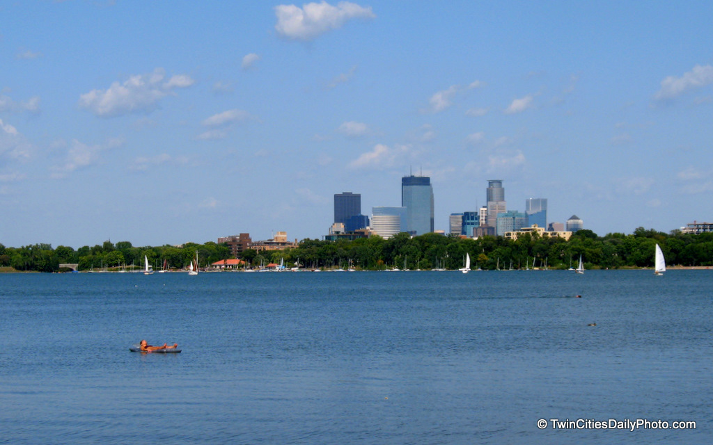 It was a beautiful day to be out in the sun this past weekend, so my family and I took a walk around Lake Calhoun in Minneapolis.