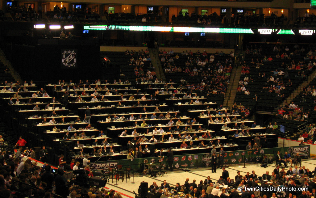 Friday and Saturday at the Xcel Energy Center, the NHL draft took place in the Twin Cities.