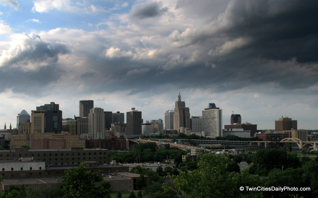 I took this capture over the past summer as the storm clouds were rolling into downtown St Paul