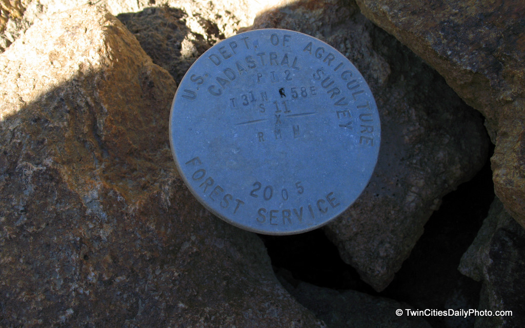 Well, I'm not 100% sure what this is or used for, but I would guess it is for measuring how far the mountains have moved? This mystery object is located in Nevada on the Ruby Mountains. We saw it and figured it was some geological survey marker, but in all reality, I have no idea what it is.