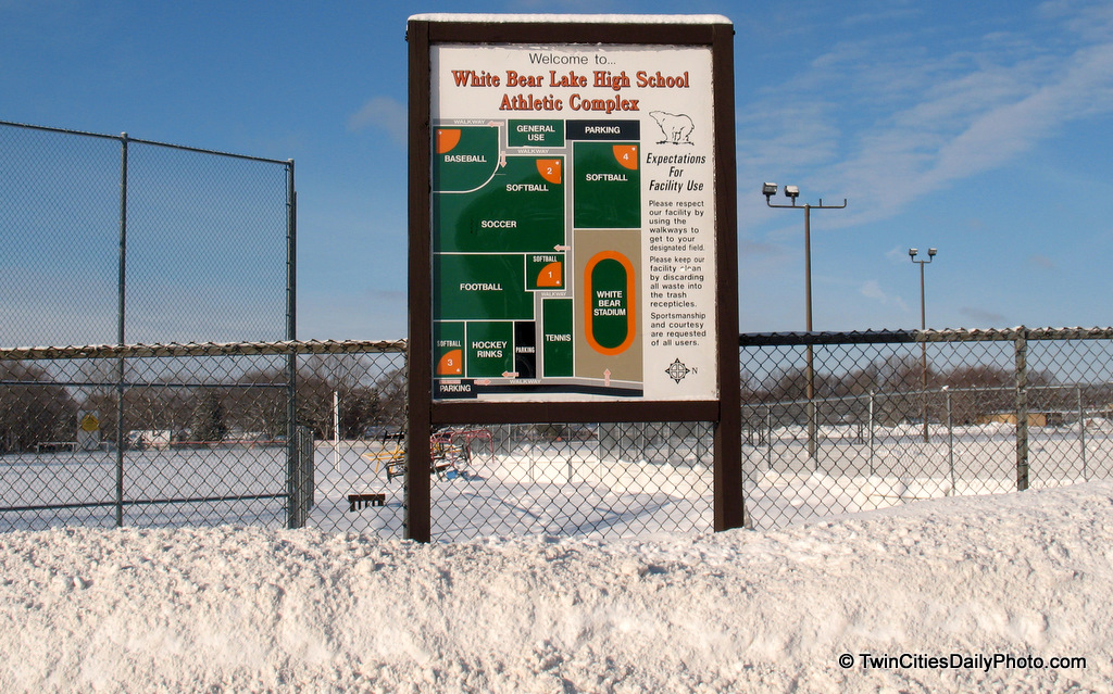 A easy to follow and well drawn map of the White Bear Lake High School ball fields.