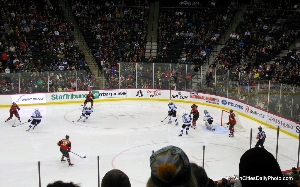 This one is a couple months old now, but it was from the Minnesota Wild versus the San Jose Sharks hockey game.